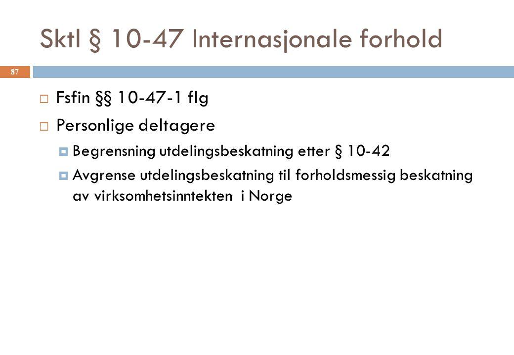 Sktl § 10-47 Internasjonale forhold