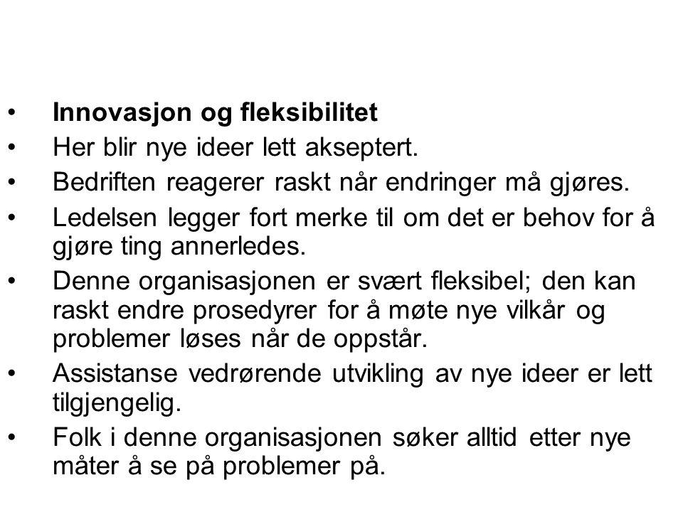 Innovasjon og fleksibilitet