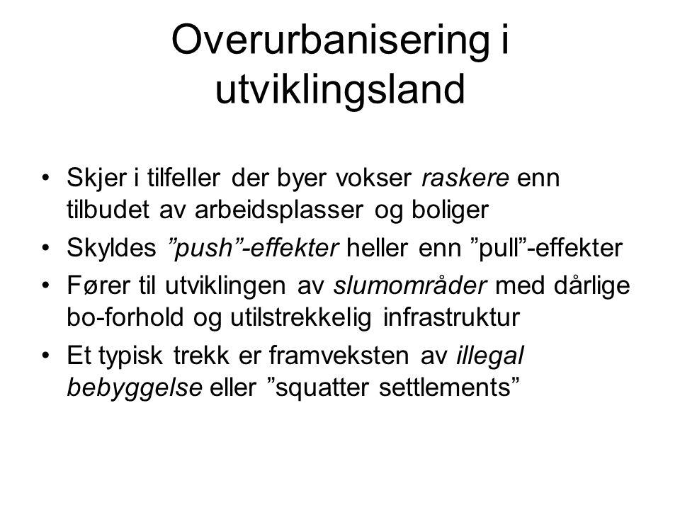 Overurbanisering i utviklingsland