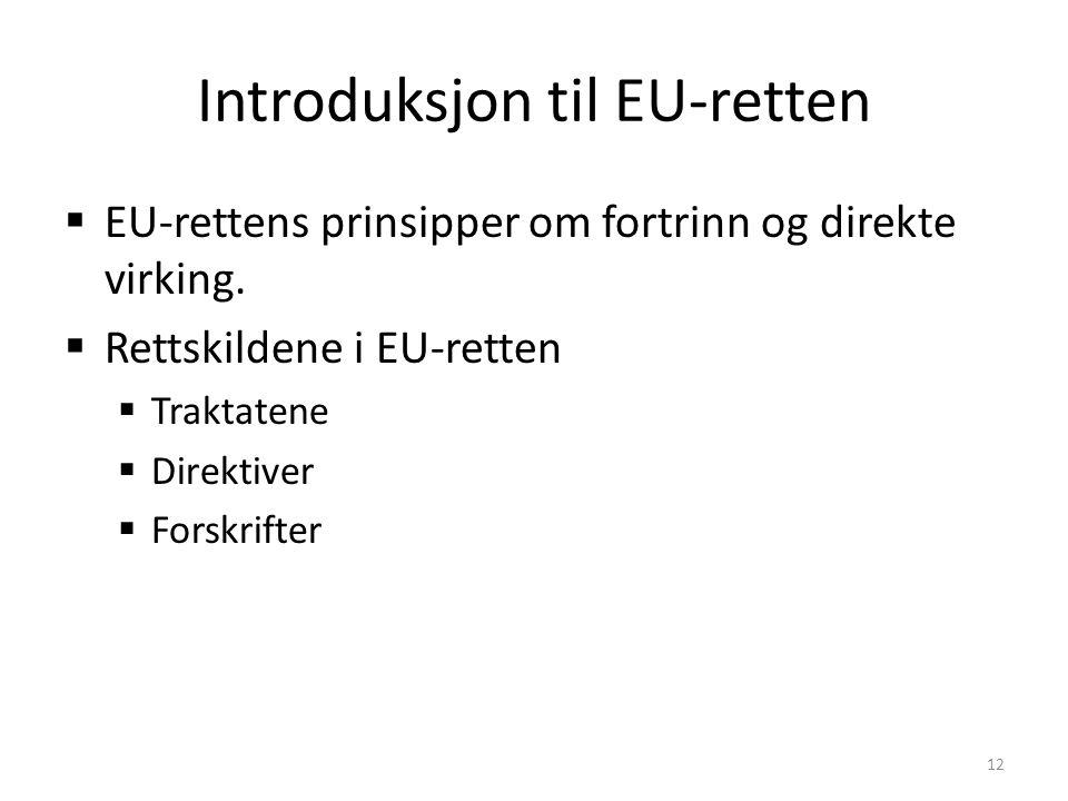 Introduksjon til EU-retten