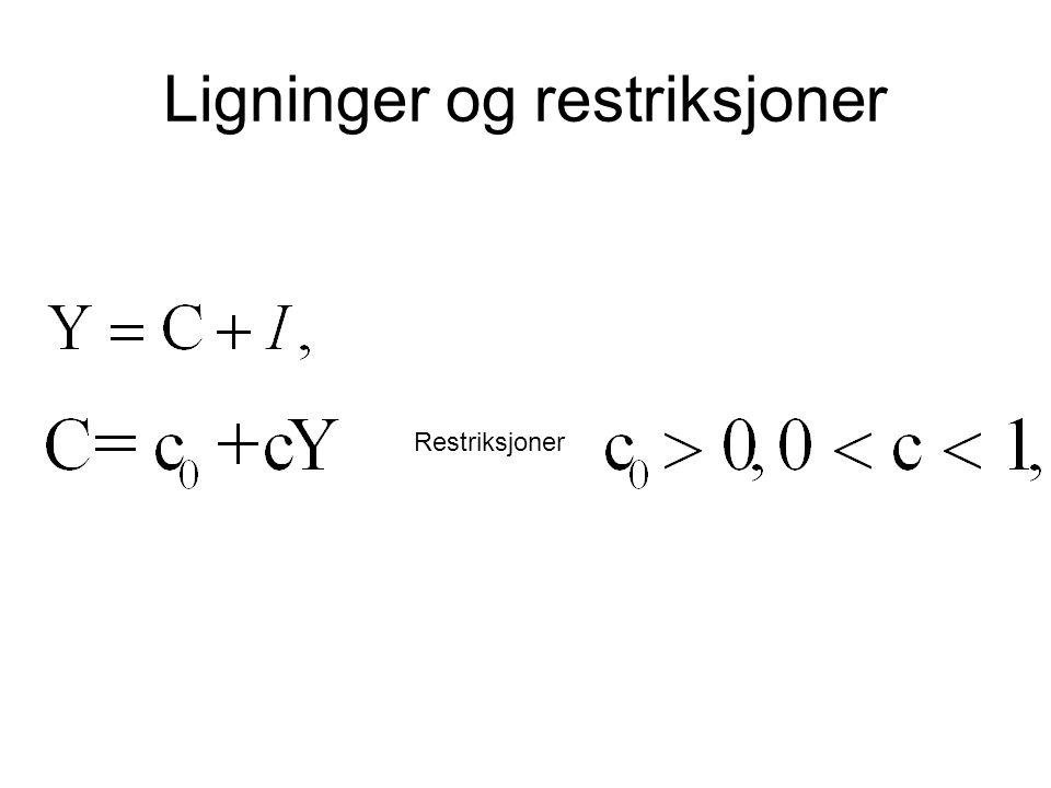 Ligninger og restriksjoner