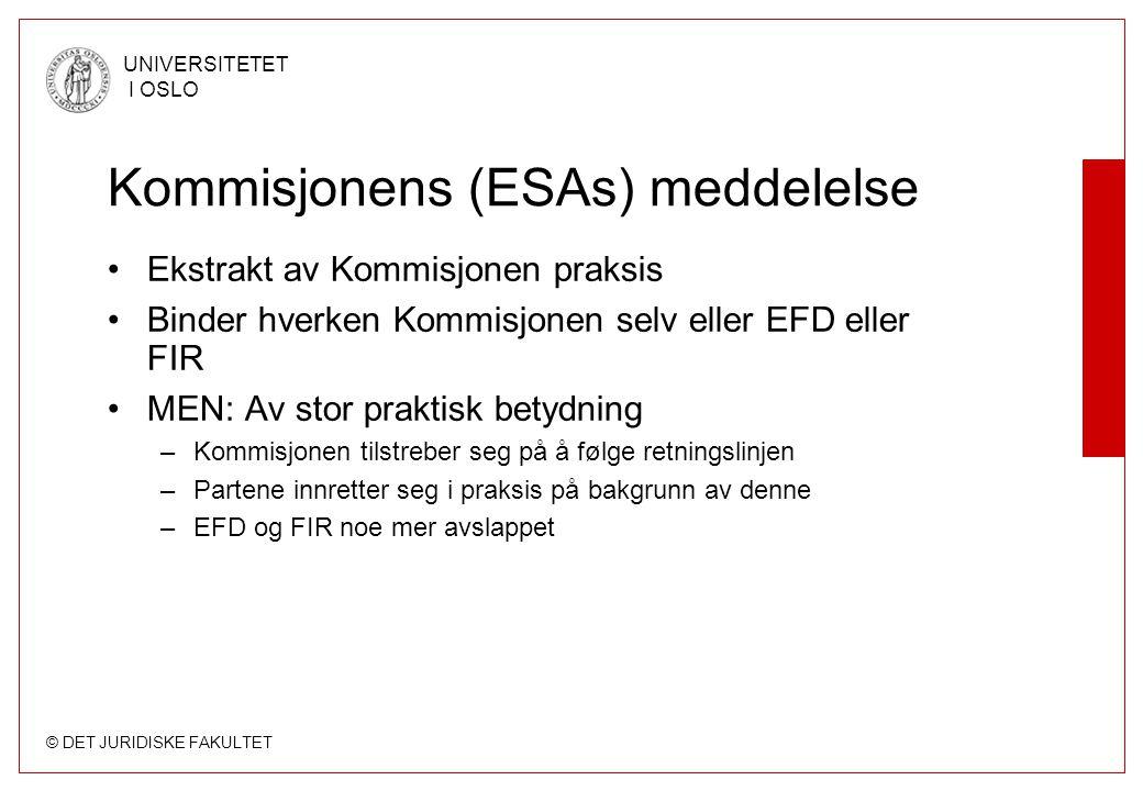 Kommisjonens (ESAs) meddelelse