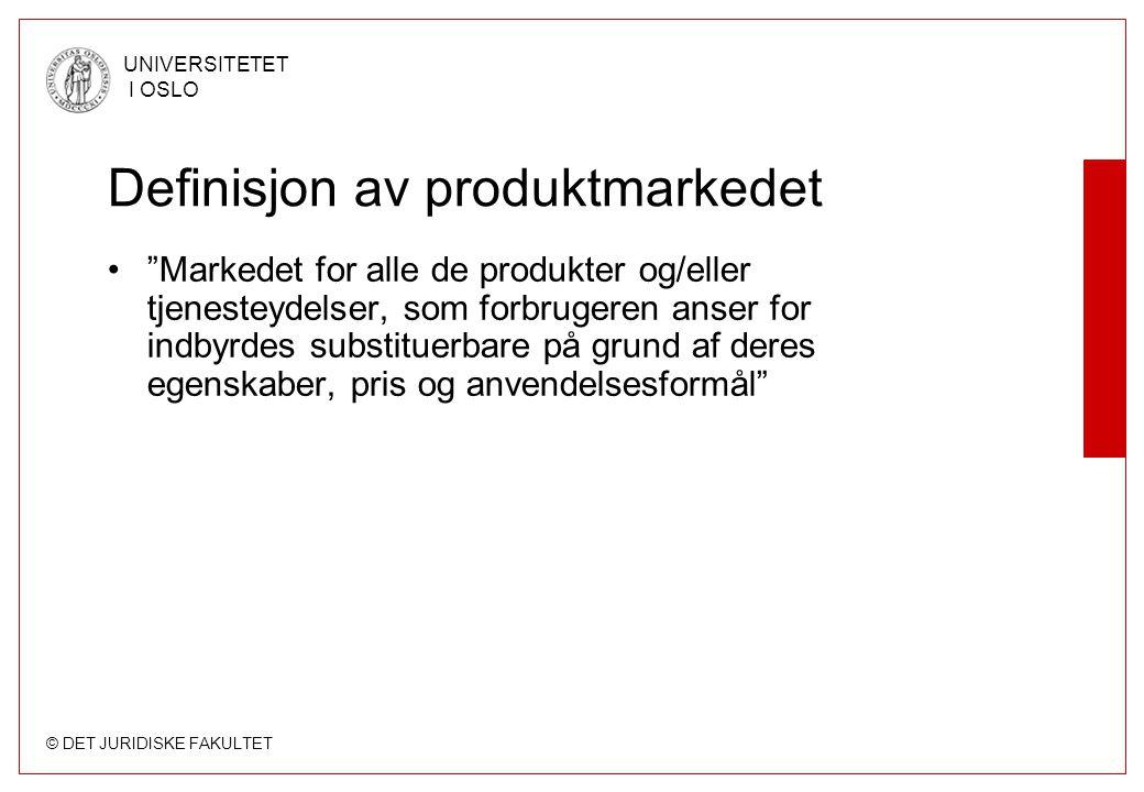 Definisjon av produktmarkedet