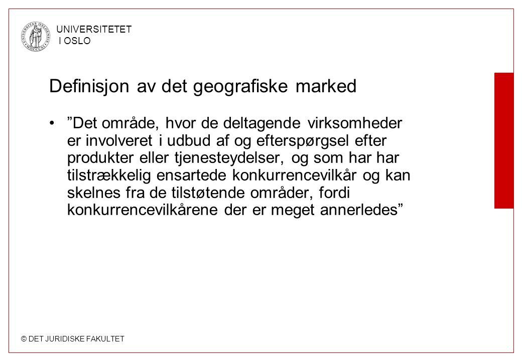 Definisjon av det geografiske marked