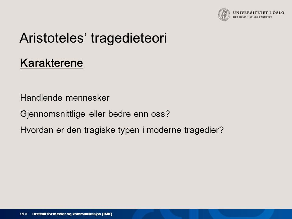 Aristoteles' tragedieteori