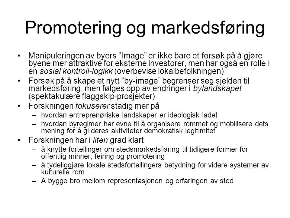 Promotering og markedsføring