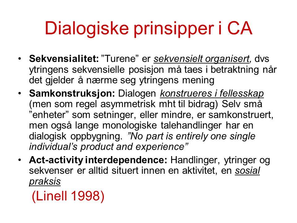 Dialogiske prinsipper i CA