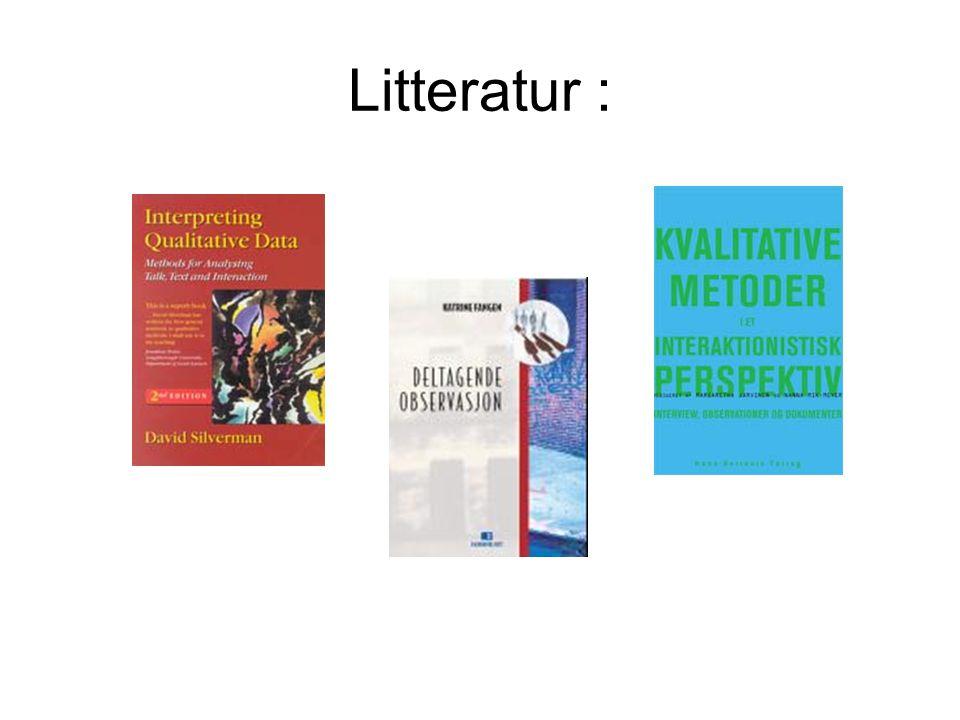 Litteratur :