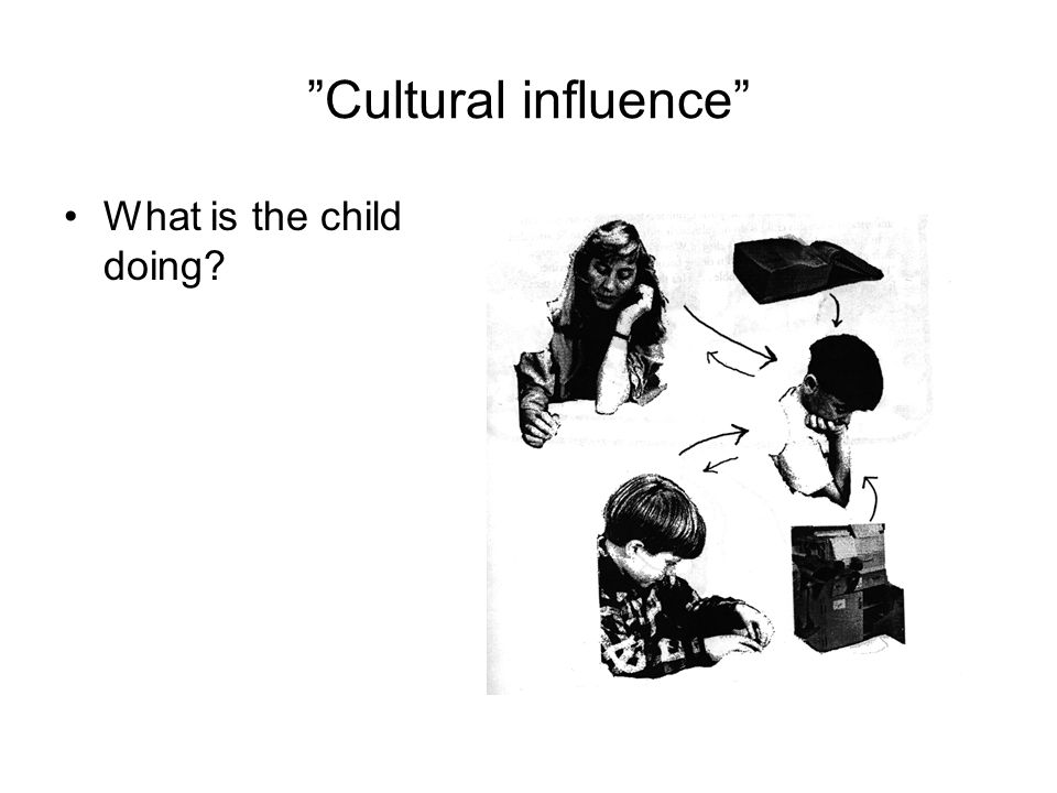 Cultural influence What is the child doing
