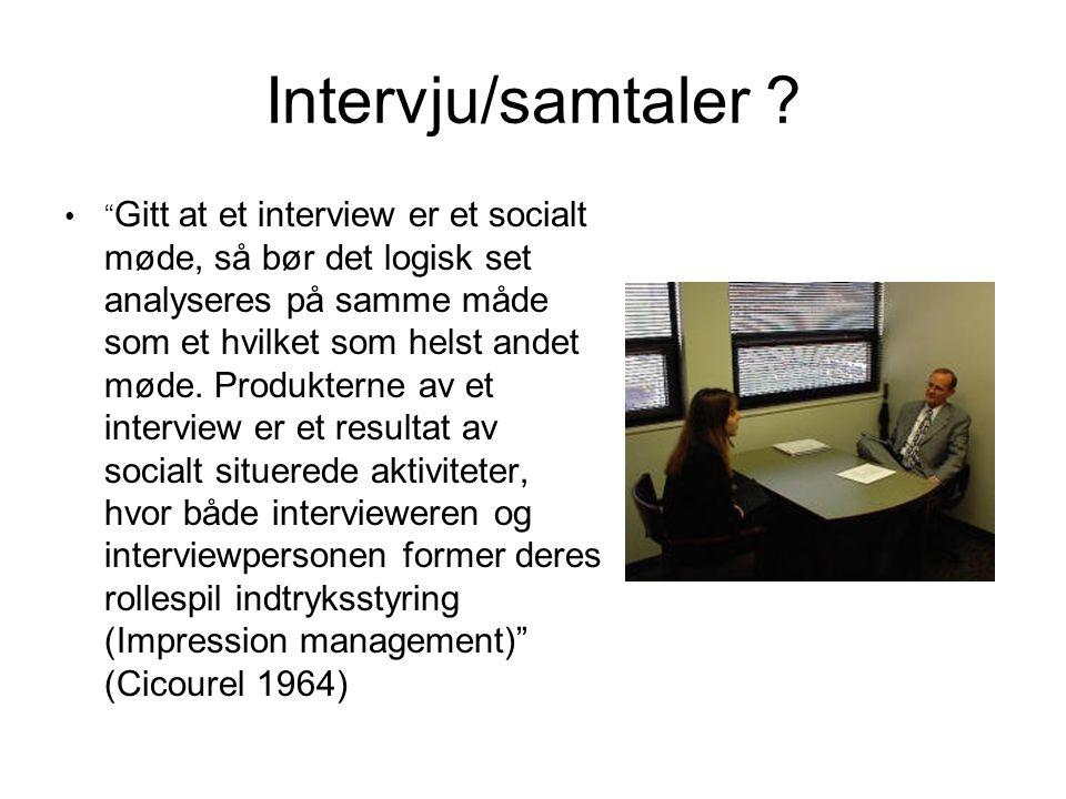 Intervju/samtaler