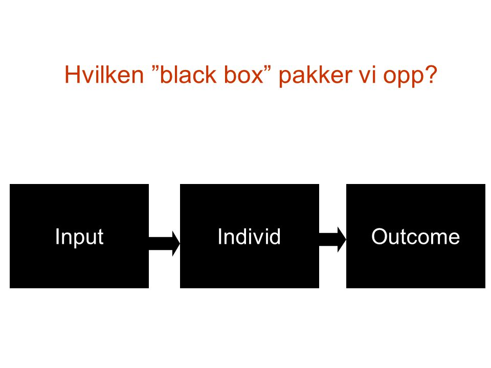 Hvilken black box pakker vi opp
