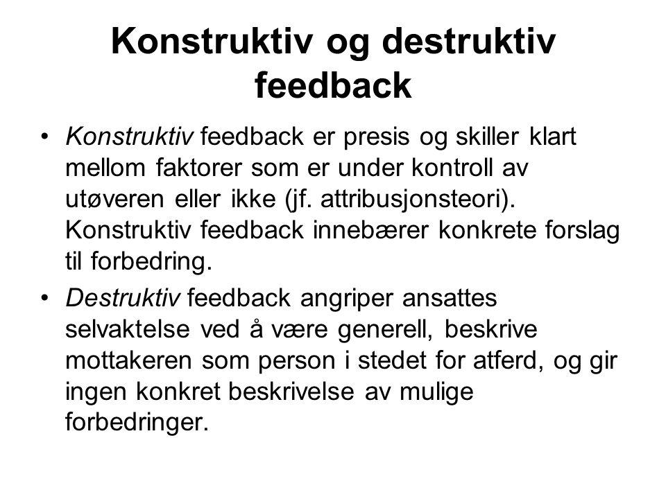 Konstruktiv og destruktiv feedback