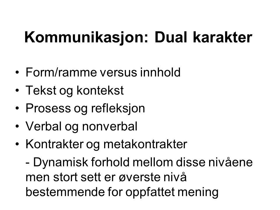 Kommunikasjon: Dual karakter