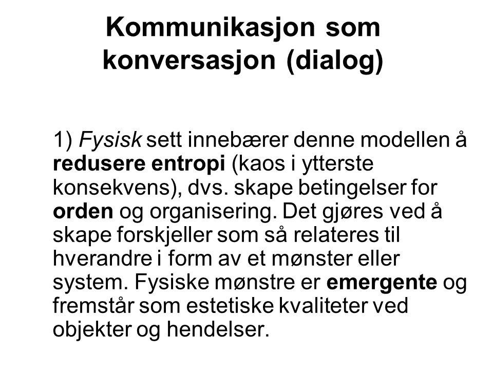Kommunikasjon som konversasjon (dialog)