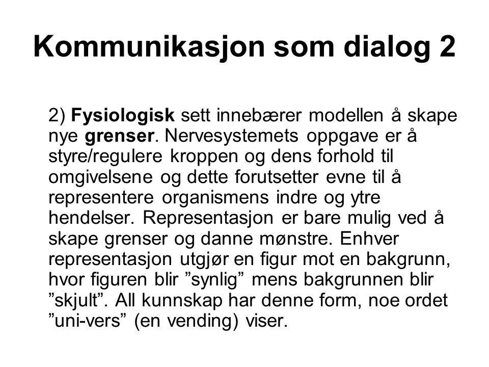 Kommunikasjon som dialog 2