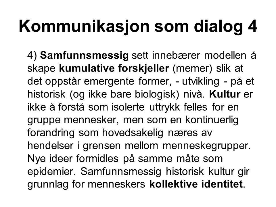 Kommunikasjon som dialog 4