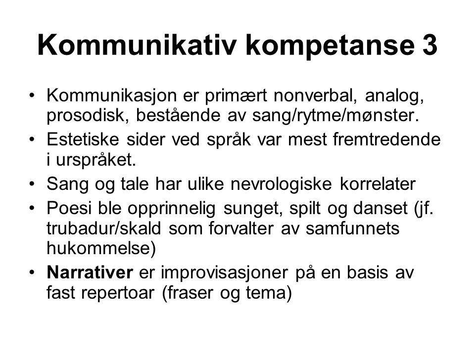 Kommunikativ kompetanse 3