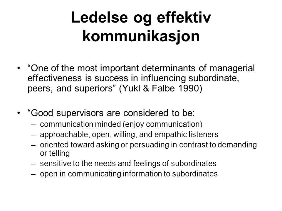 Ledelse og effektiv kommunikasjon