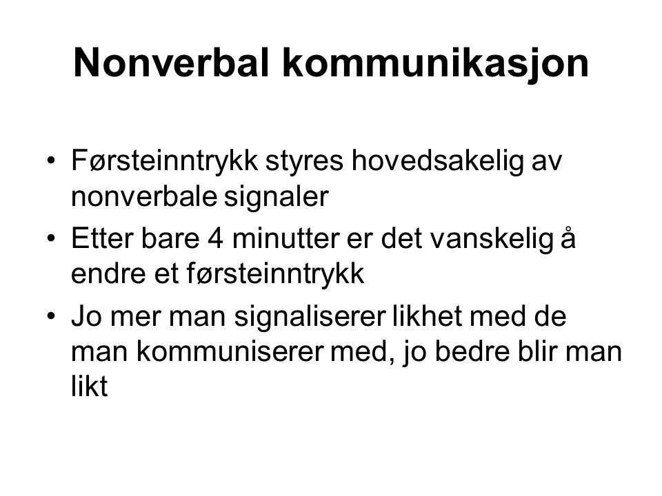 Nonverbal kommunikasjon