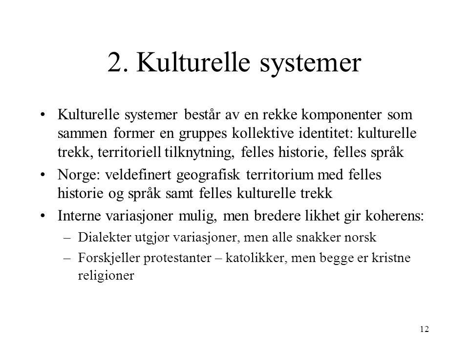 2. Kulturelle systemer