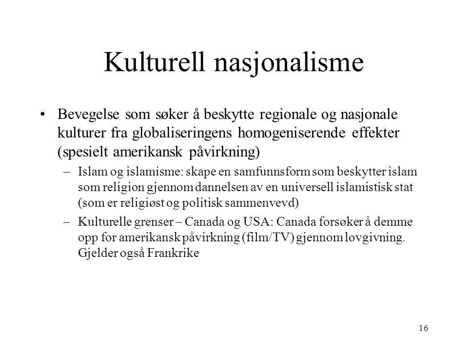 Kulturell nasjonalisme