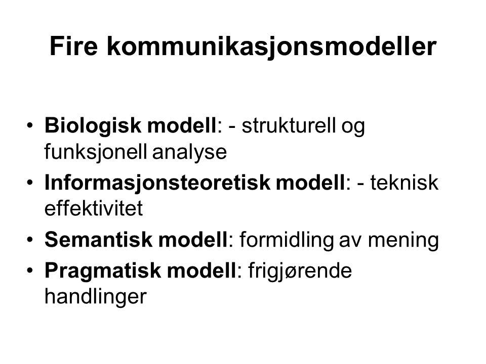 Fire kommunikasjonsmodeller