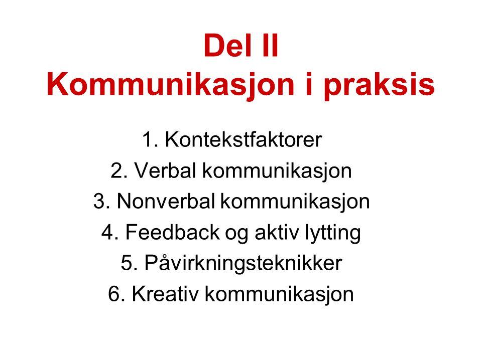 Del II Kommunikasjon i praksis