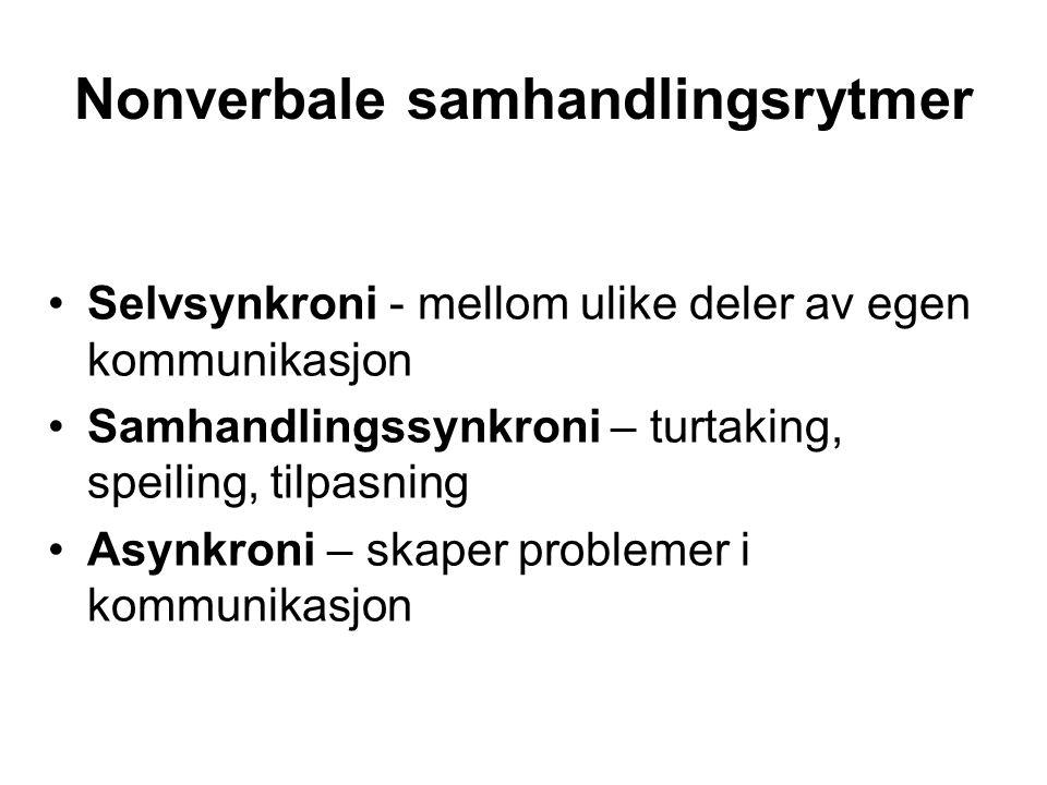 Nonverbale samhandlingsrytmer