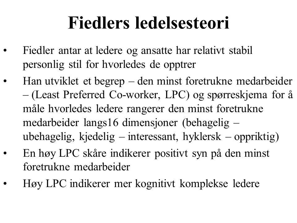 Fiedlers ledelsesteori
