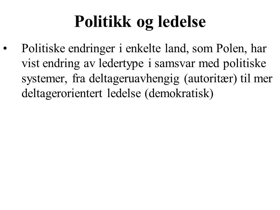 Politikk og ledelse