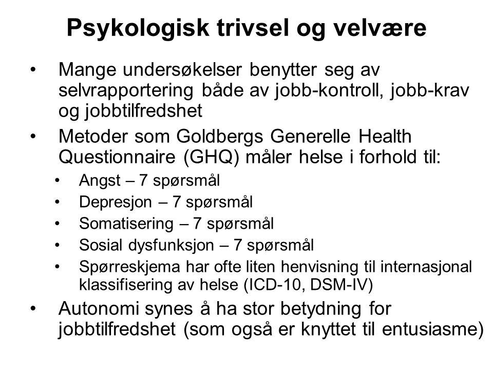 Psykologisk trivsel og velvære