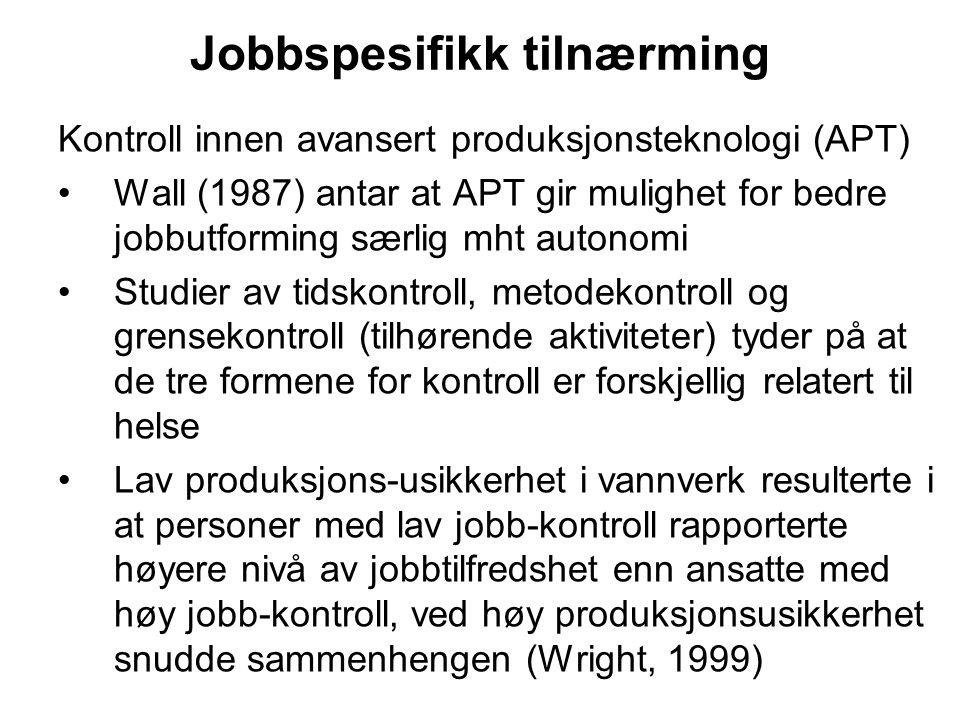 Jobbspesifikk tilnærming
