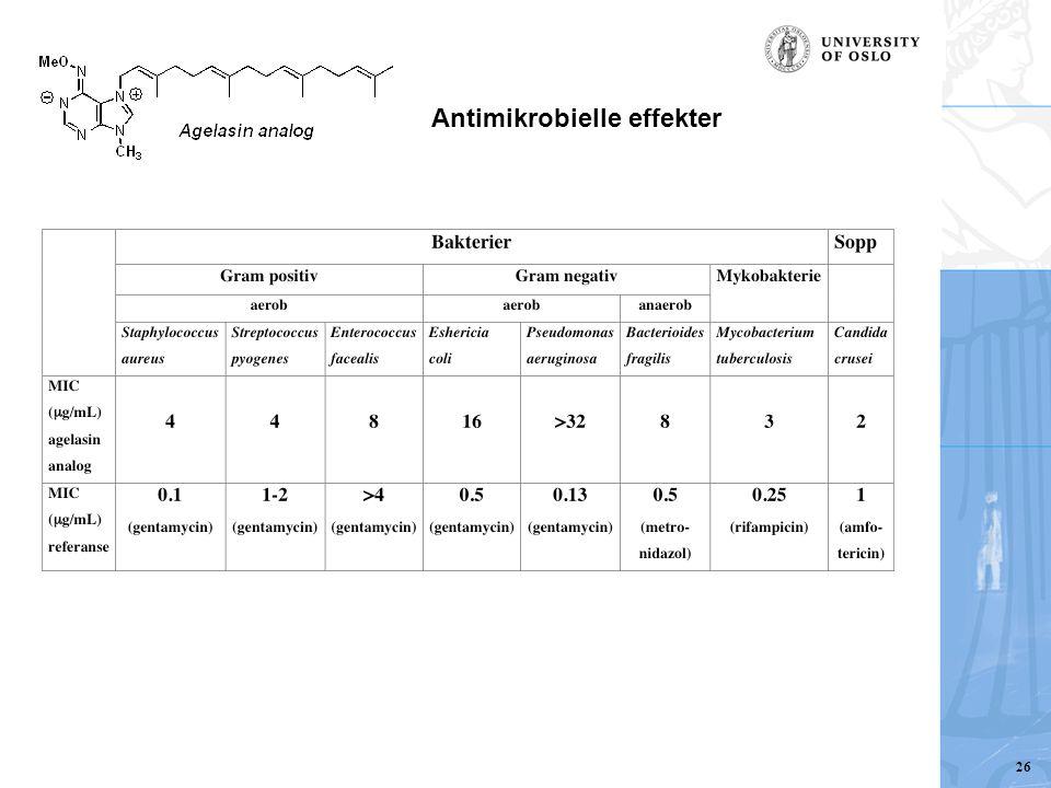 Antimikrobielle effekter