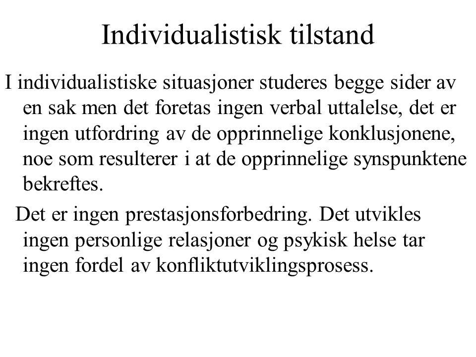 Individualistisk tilstand