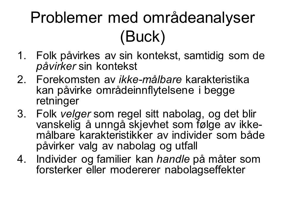 Problemer med områdeanalyser (Buck)