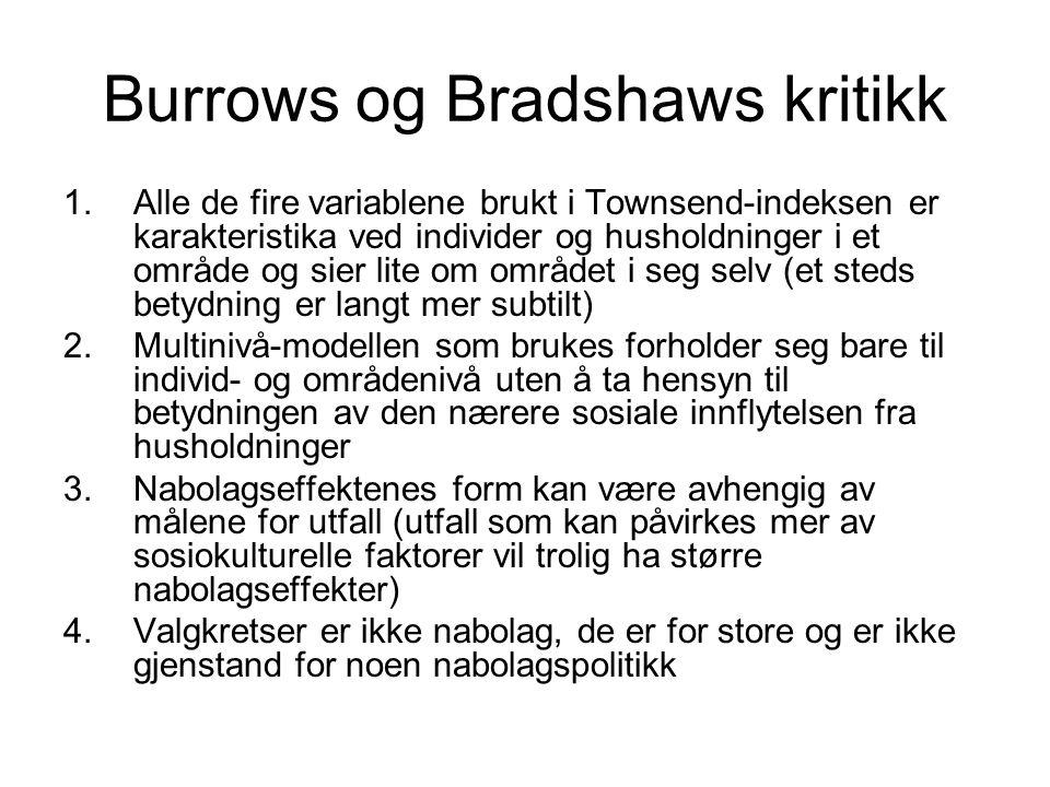 Burrows og Bradshaws kritikk