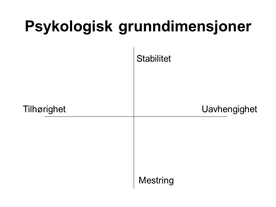 Psykologisk grunndimensjoner