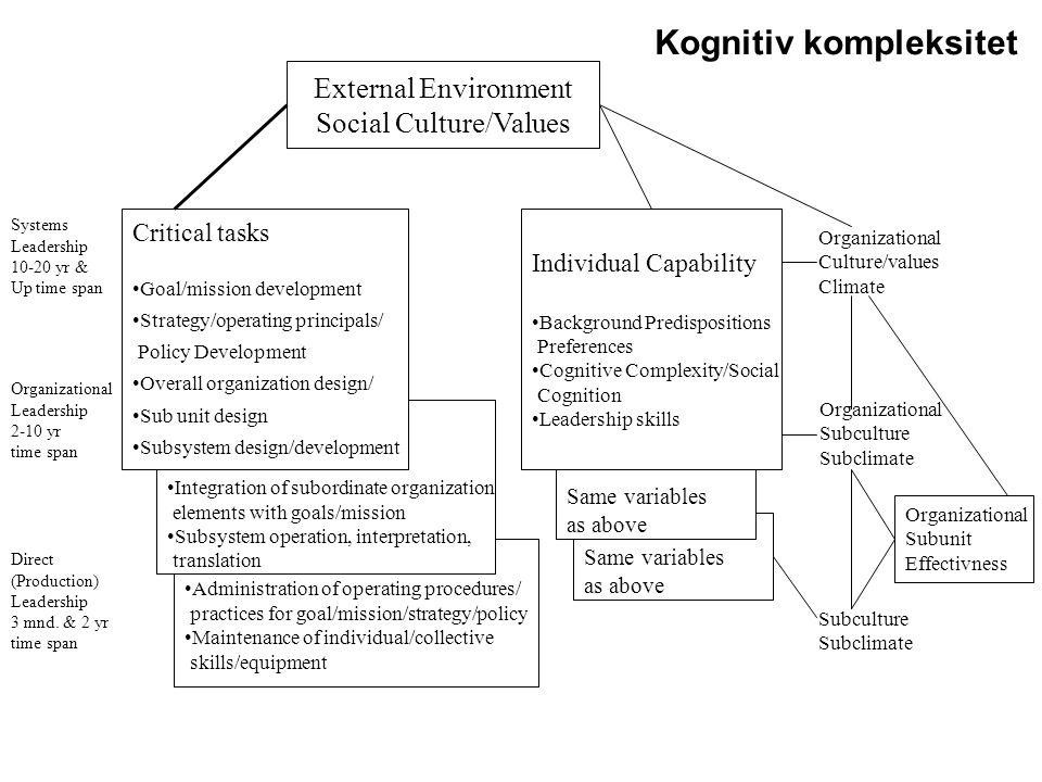 Social Culture/Values
