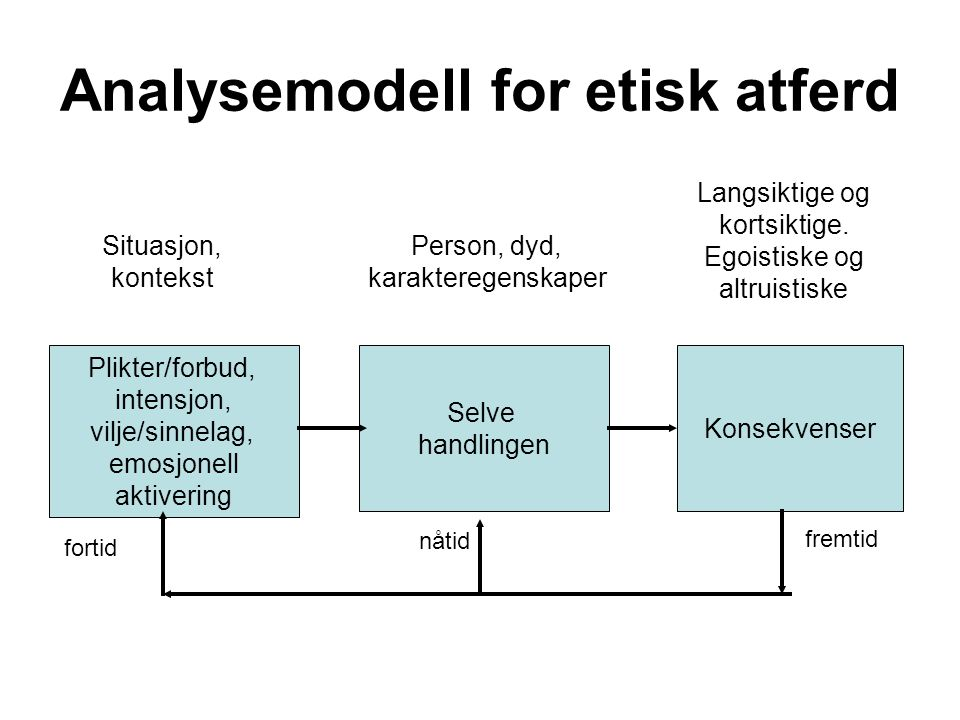 Analysemodell for etisk atferd