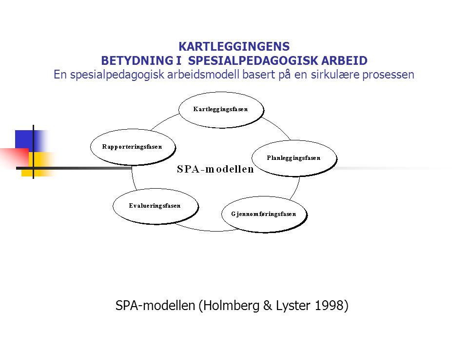 SPA-modellen (Holmberg & Lyster 1998)