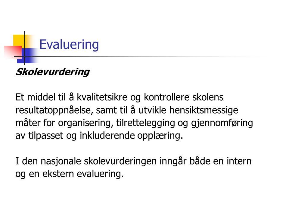 Evaluering Skolevurdering