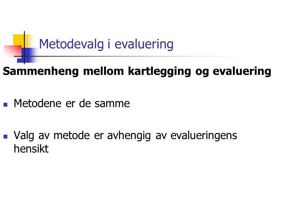 Metodevalg i evaluering