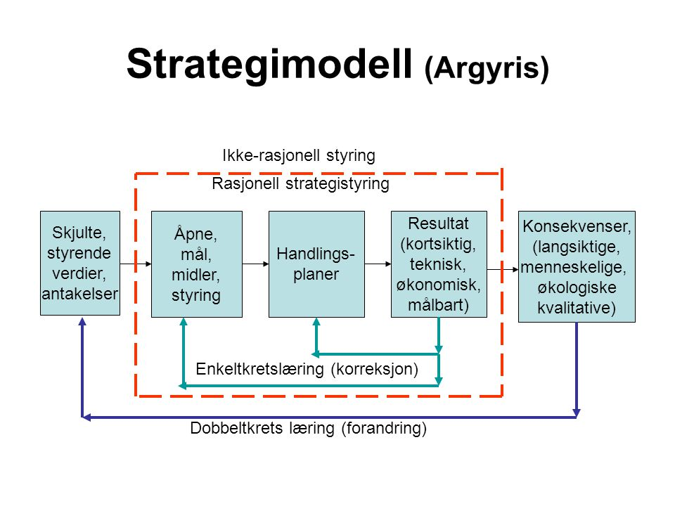Strategimodell (Argyris)