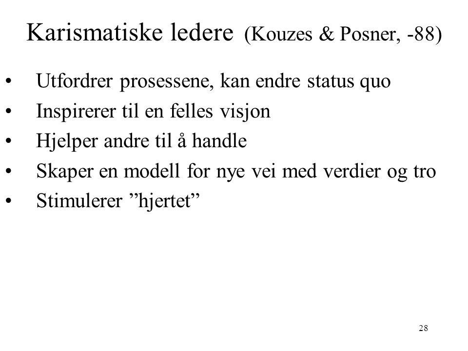 Karismatiske ledere (Kouzes & Posner, -88)