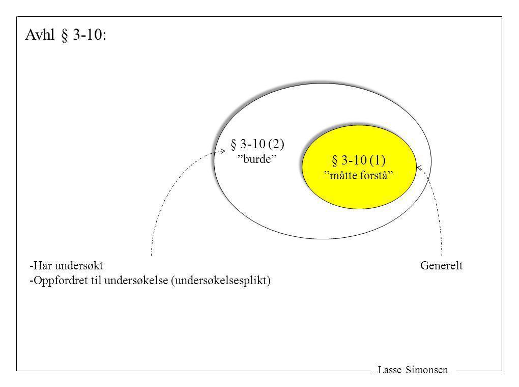 Avhl § 3-10: § 3-10 (2) § 3-10 (1) måtte forstå burde