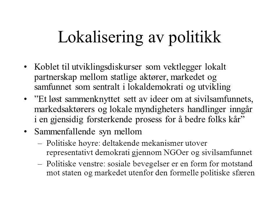 Lokalisering av politikk