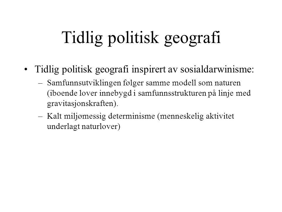 Tidlig politisk geografi