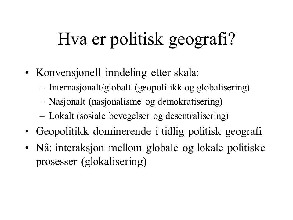 Hva er politisk geografi