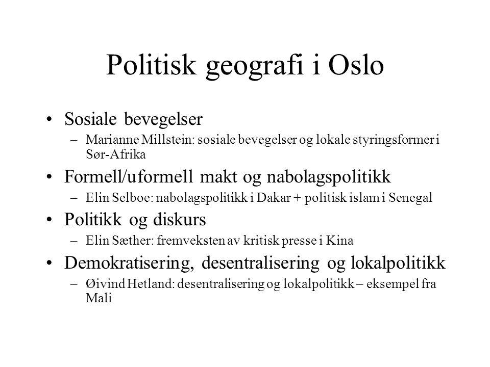 Politisk geografi i Oslo