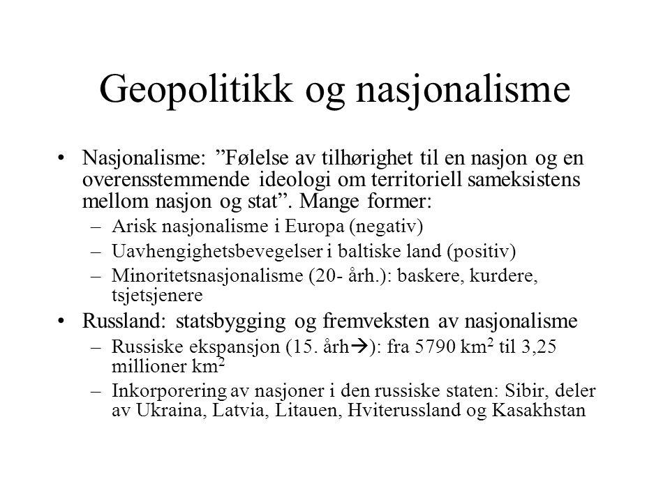 Geopolitikk og nasjonalisme